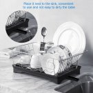 Stainless Steel Dish Drying Rack Sink Drainer Bowl Shelf Kitchen Cutlery Holder USA