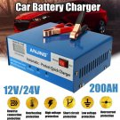 Car Battery Charger Automatic Intelligent 12V 24V Lead Acid Pulse Repair Starter USA