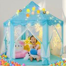 Blue Princess Castle House Indoor/Outdoor Kids Play Tent for Girls w/ LED Lights USA