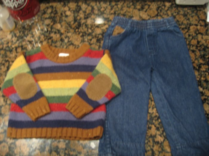 DARLING SECOND STEP OUTFIT: SWEATER & PANTS SET 18 24 mo Great for Christmas!