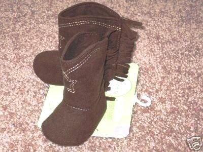 BRAND NEW! Adorable Cowboy boots for Baby! Sz 0 - 3 M mo, Brown, infant western booties!  UNISEX!