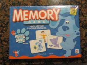 Blue's Clues MEMORY GAME!  NEW in PLASTIC Educational Toy with Blue's Clue Theme