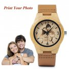 Custom Engraved Wooden Watches, Personalized Photo Wooden Watch, GFL-001