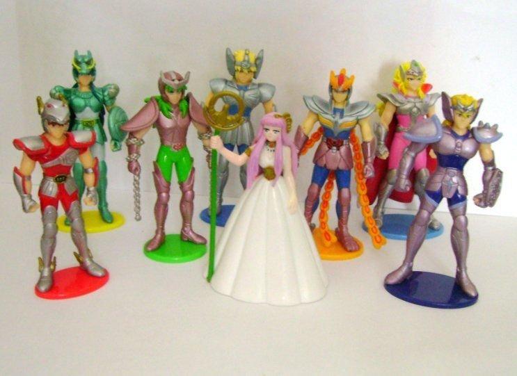 Saint Seiya Complete Set 8 3D Figures Preziosi Collection