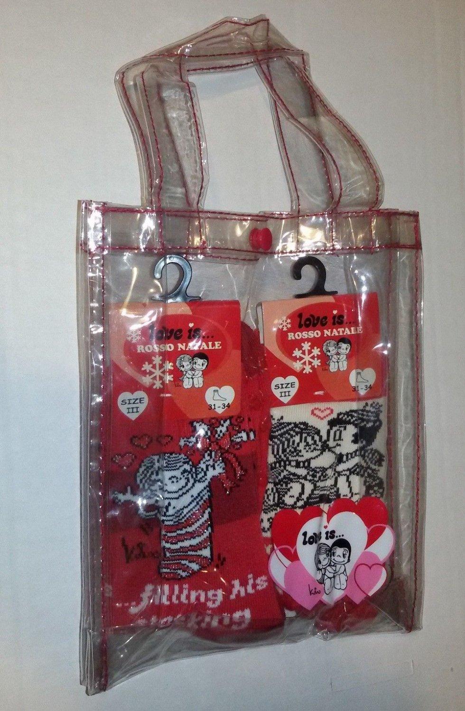 Love Is Christmas Pack Set Red Slipper Socks