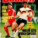 World Soccer 1989 October Moller Rufer Da Silva