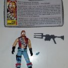G.I. Joe Monkeywrench Dreadnok Loose Action Figure Filecard Hasbro
