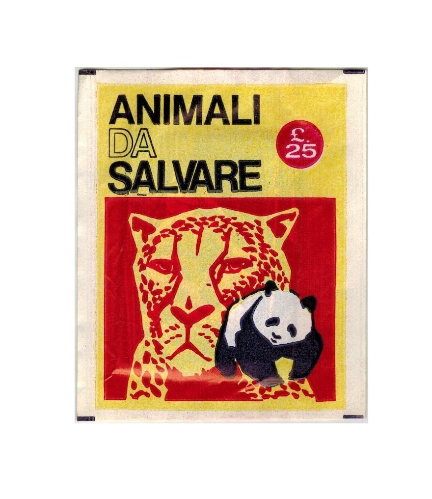 Animali da Salvare Sealed Pack Stickers Club 1972