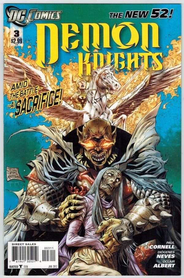 Demon Knights 3 DC Comics 2012 Cornell Neves New 52