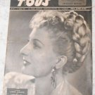 Films Pour Tous 1947 # 48 Cinema Magazine Annie Ducaux