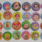 Garbage Pail Kids Metal Pins Buttons - Set - Sgorbions GPK