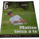 G Magazine Gazzetta dello Sport 2018 Golf Manassero