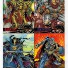 Fleer Ultra Skeleton Warriors Premier Edition 4 Uncut Promo Cards
