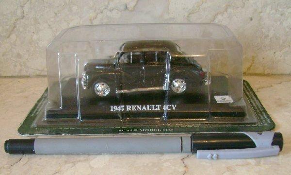 Del Prado 1/43 Renault 4cv 1947 Car Collection Diecast