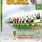 Programma Wolfsburg - Debreceni UEFA Cup 1999