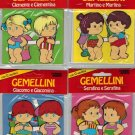 Gemellini Set 4 Sealed Packs Paper Dolls Fabbri