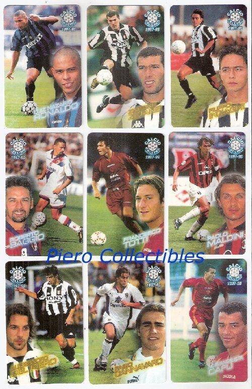 Calcio Calling Cards 1997-98 Complete Set Panini ATW