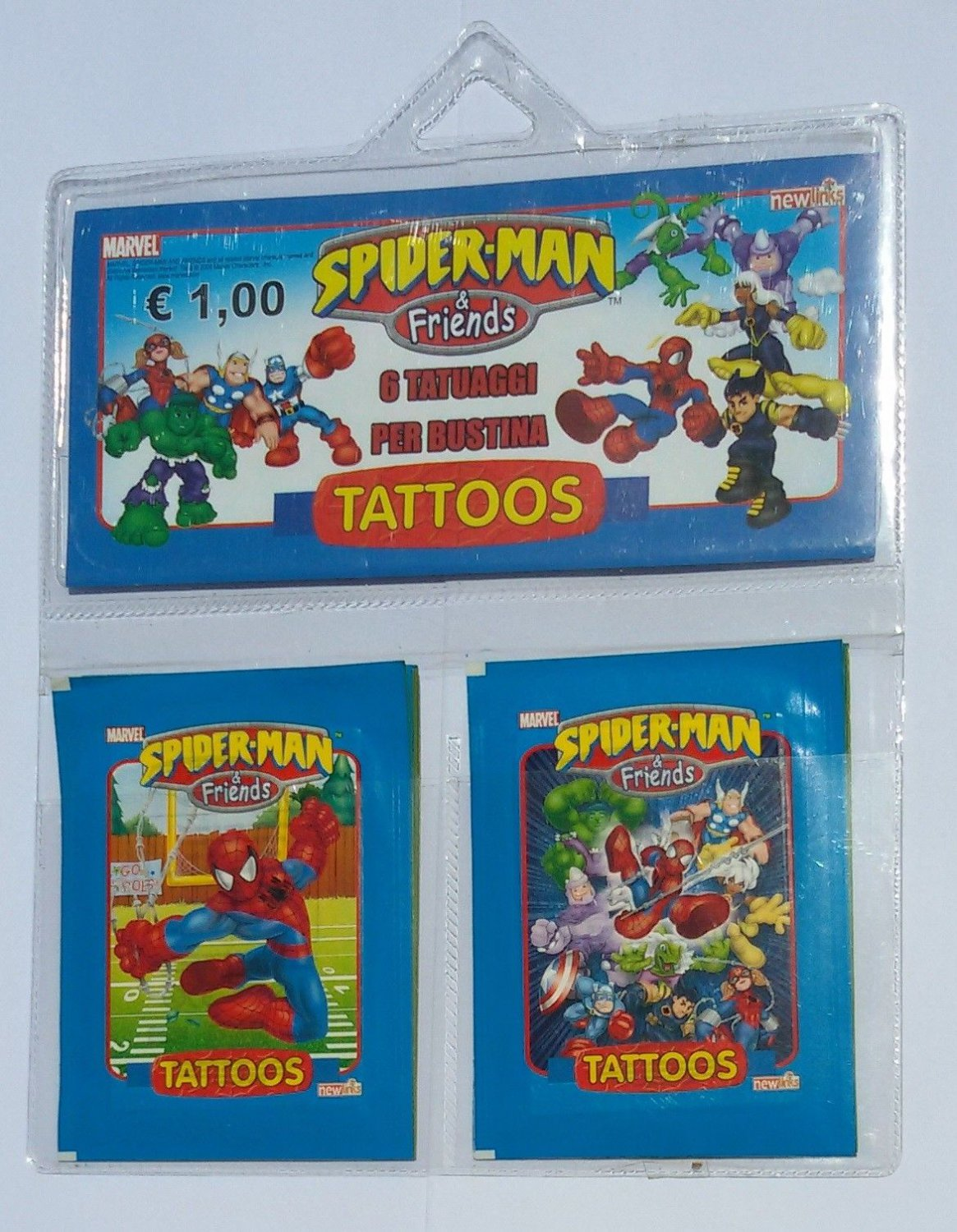 Spider-Man and Friends Tattoos Wallet 10 Sealed Packs Newlinks