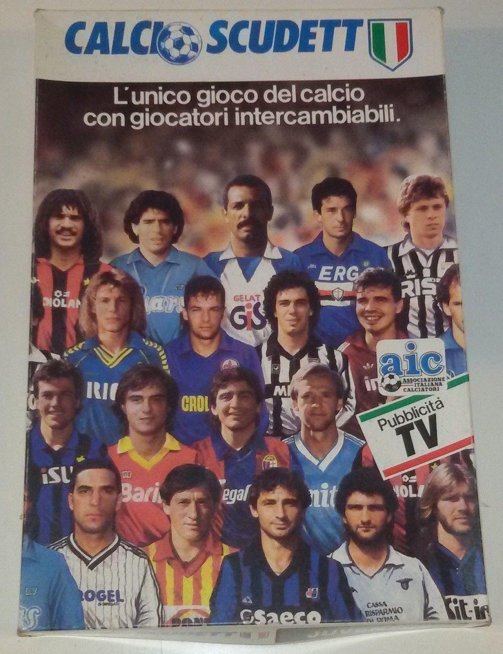 Calcio Scudetto 1988-1989 Shapes Juventus Team Soccer