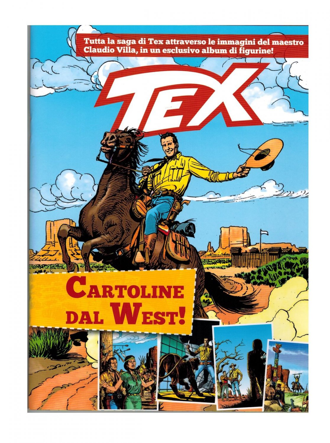 Tex Cartoline dal West Empty Album Gazzetta dello Sport