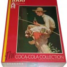 Coca Cola Jigsaw Puzzle 1000 Pieces Fishing Boy and Dog