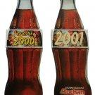 Coca Cola Calendar 2000 + 2001 Bottle Shaped Auchan