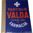 Advertising Tin Sign Plate Hachette Pastiglie Valda + Magazine