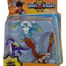 Invizimals 3-pack Figures Icelion Star Dragon Rock + Cards
