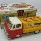 Red China MF-214 Oil Tanker Tank Truck Tin Friction Vintage Boxed