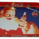 Coca Cola Metal Tray Merry Christmas Santa Claus with Coke