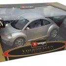 Bburago Gold 1/18 Volkswagen New Beetle Gray #3322 Diecast