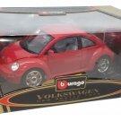 Bburago Gold 1/18 Volkswagen New Beetle Red #3342 Diecast