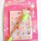 Winx Club Pen with Labels Stickers - Flora