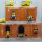 Minions Set 5 Clip-On Figures King Bob Bazooka Kevin