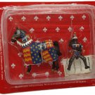 Medieval Knights Frontline Mounted Black Prince 1/32 54mm Lead