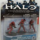 Halo Wars Heroic Set Squad 3 Red UNSC 3-pack Figures McFarlane