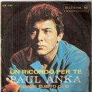 """Paul Anka Vinyl 7"""" Dimmi Subito Di Si Un Ricordo per Te 1963"""
