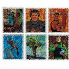 Action Man 1996 Lot 6 Prism Stickers Panini