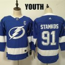 Youth Tampa Bay Lightning #91 Steven Stamkos Blue Classic Stitched