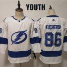 Youth Tampa Bay Lightning #86 Nikita Kucherov White Classic Stitched