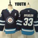 Youth Winnipeg Jets 33 Dustin Byfuglien Navy Winter Classic Stitched