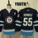 Youth Winnipeg Jets #55 Mark Scheifele Navy Winter Classic Stitched