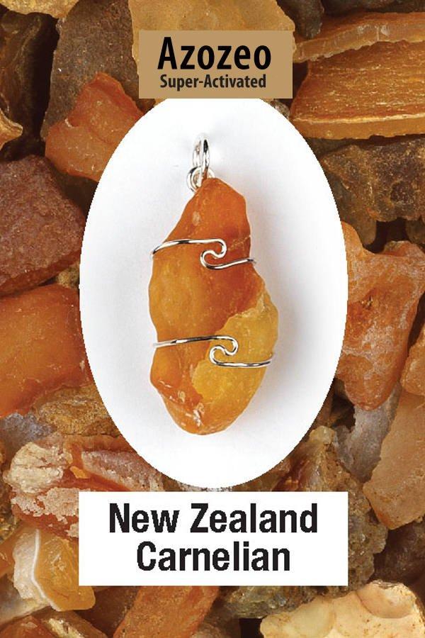 One   New Zealand Carnelian Wire Wrap Pendant! .925 Sterling Silver! V