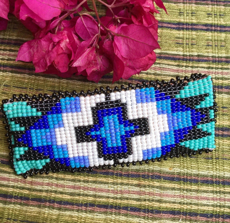 Beaded   hair clip-hair accessories-gift for women-handmade-barrette-h