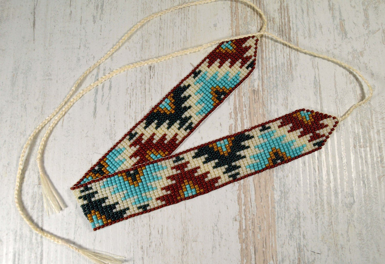 Choker,   Beaded Choker Necklace, Native American  Style Choker, Beade