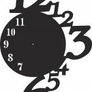 DXF CDR file for CNC VECTOR Laser CUT Plasma or Water Jet ROUTER CLOCK0014