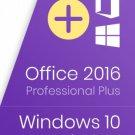 WINDOWS 10 PRO & MICROSOFT OFFICE 2016 PRO PLUS