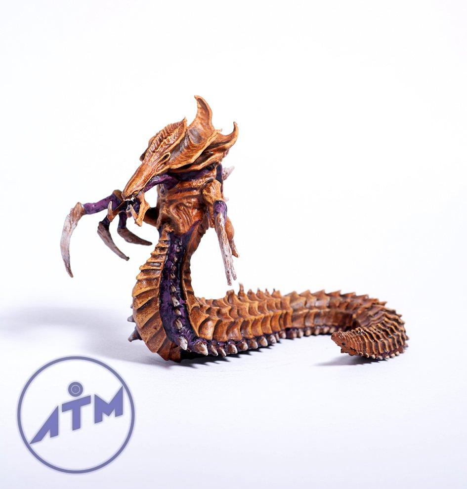 Zerg Hydralisk from Starcraft metal figurine painting hand