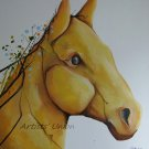 Spring Horse Original Oil Painting Cubism Modern Art Forms Animal Contemporary Surrealism Big Format