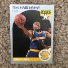 Golden State Warriors star Tim Hardaway 1990 NBA Hoops Basketball Rookie Card #113